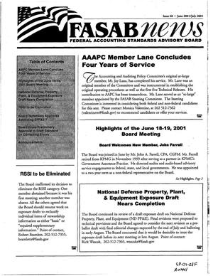 Primary view of object titled 'FASAB News, Issue 68, June-July 2001'.