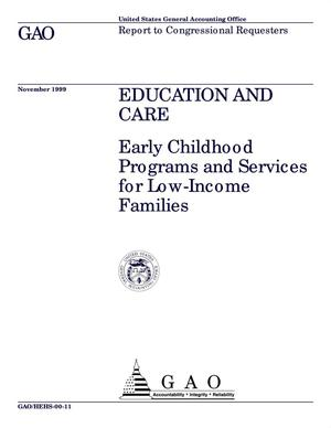 Primary view of object titled 'Education and Care: Early Childhood Programs and Services for Low-Income Families'.