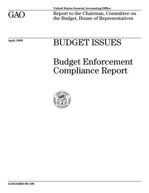 Primary view of object titled 'Budget Issues: Budget Enforcement Compliance Report'.
