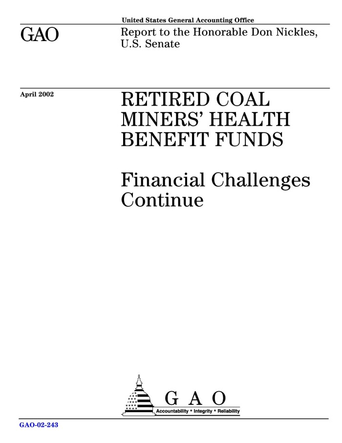 Retired Coal Miners' Health Benefit Funds: Financial Challenges