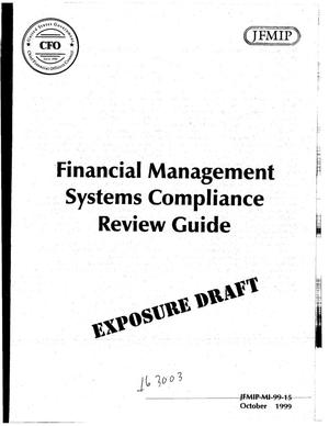 Primary view of object titled 'Financial Management Systems Compliance Review Guide'.