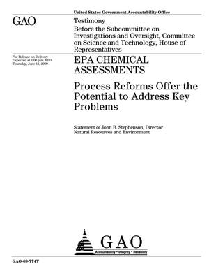 Primary view of object titled 'EPA Chemical Assessments: Process Reforms Offer the Potential to Address Key Problems'.