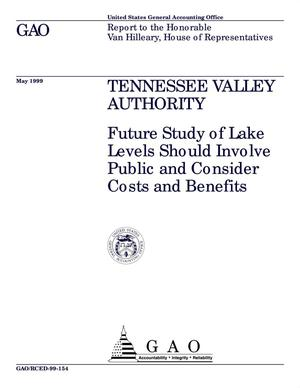 Primary view of object titled 'Tennessee Valley Authority: Future Study of Lake Levels Should Involve Public and Consider Costs and Benefits'.