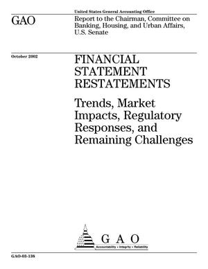 Primary view of object titled 'Financial Statement Restatements: Trends, Market Impacts, Regulatory Responses, and Remaining Challenges'.