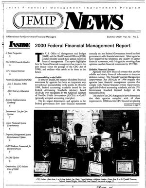 Primary view of object titled 'JFMIP News: A Newsletter for Government Financial Managers, Summer 2000, Vol. 12, No. 2'.