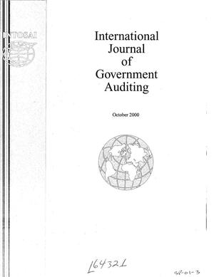 Primary view of object titled 'International Journal of Government Auditing, October 2000, Vol. 27, No. 4'.