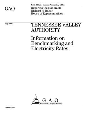Primary view of object titled 'Tennessee Valley Authority: Information on Benchmarking and Electricity Rates'.