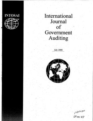Primary view of object titled 'International Journal of Government Auditing, July 2000, Vol. 27, No. 3'.