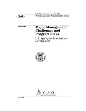 Primary view of object titled 'Major Management Challenges and Program Risks: U.S. Agency for International Development'.