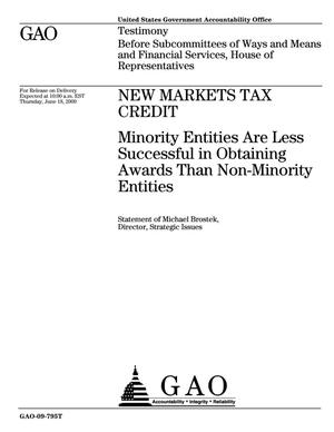 Primary view of object titled 'New Markets Tax Credit: Minority Entities Are Less Successful in Obtaining Awards Than Non-Minority Entities'.