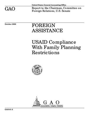 Primary view of object titled 'Foreign Assistance: USAID Compliance With Family Planning Restrictions'.