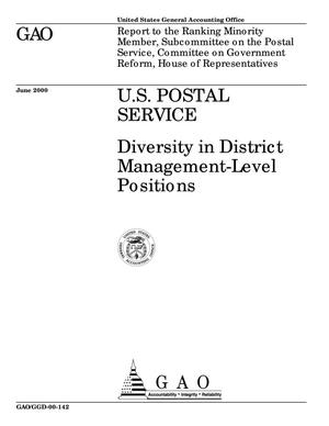 Primary view of object titled 'U.S. Postal Service: Diversity in District Management-Level Positions'.