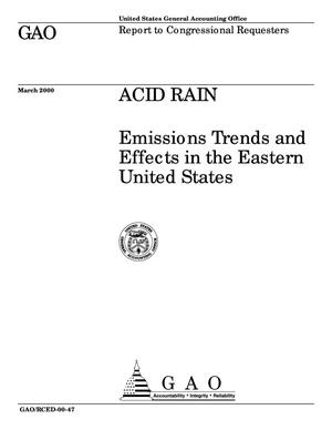 Primary view of object titled 'Acid Rain: Emissions Trends and Effects in the Eastern United States'.