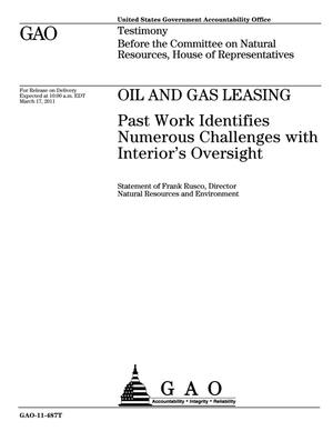 Primary view of object titled 'Oil and Gas Leasing: Past Work Identifies Numerous Challenges with Interior's Oversight'.