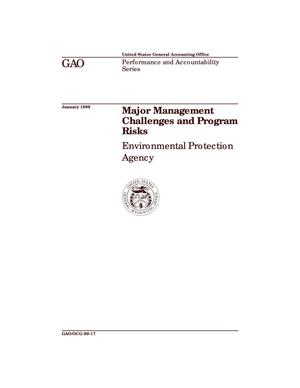 Primary view of object titled 'Major Management Challenges and Program Risks: Environmental Protection Agency'.
