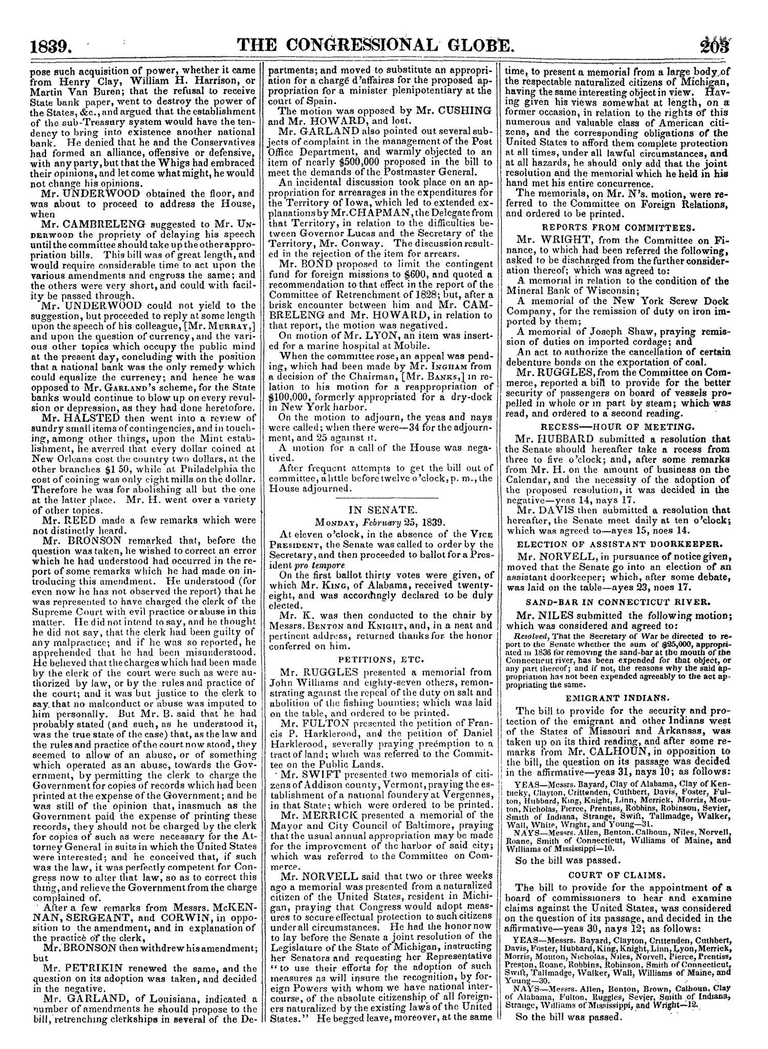 The Congressional Globe, Volume 7: Twenty-Fifth Congress, Third Session                                                                                                      [Sequence #]: 222 of 687