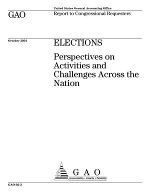 Primary view of object titled 'Elections: Perspectives on Activities and Challenges Across the Nation'.