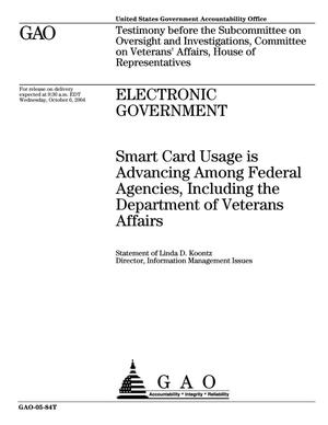 Primary view of object titled 'Electronic Government: Smart Card Usage is Advancing Among Federal Agencies, Including the Department of Veterans Affairs'.