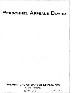 Primary view of object titled 'Personnel Appeals Board: Promotions of Banded Employees, 1991-1995'.