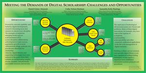 Primary view of object titled 'Meeting the Demands of Digital Scholarship: Challenges and Opportunities [Poster]'.