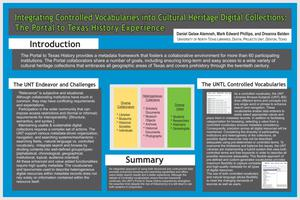 Integrating Controlled Vocabularies into Cultural Heritage Digital Collections: The Portal to Texas History Experience [Poster]