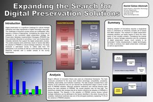 Primary view of object titled 'Expanding the Search for Digital Preservation Solutions [Poster]'.