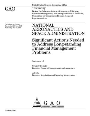 Primary view of object titled 'National Aeronautics and Space Administration: Significant Actions Needed to Address Long-standing Financial Management Problems'.