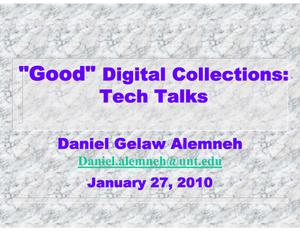 "Primary view of object titled '""Good"" Digital Collections'."