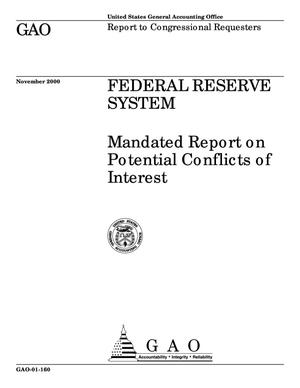 Primary view of object titled 'Federal Reserve System: Mandated Report on Potential Conflicts of Interest'.