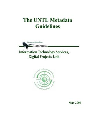 Primary view of object titled 'The UNTL Metadata Guidelines: [Version-2, 2006]'.