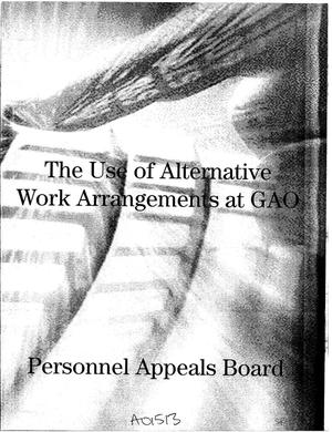 Primary view of object titled 'The Use of Alternative Work Arrangements at GAO'.