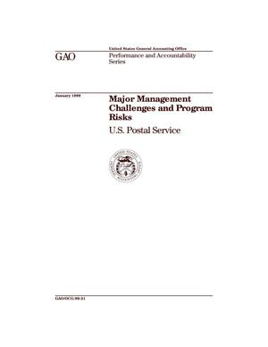 Primary view of object titled 'Major Management Challenges and Program Risks: U.S. Postal Service'.