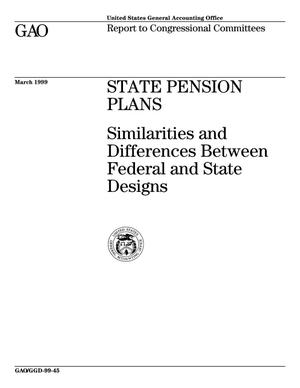 Primary view of object titled 'State Pension Plans: Similarities and Differences Between Federal and State Designs'.