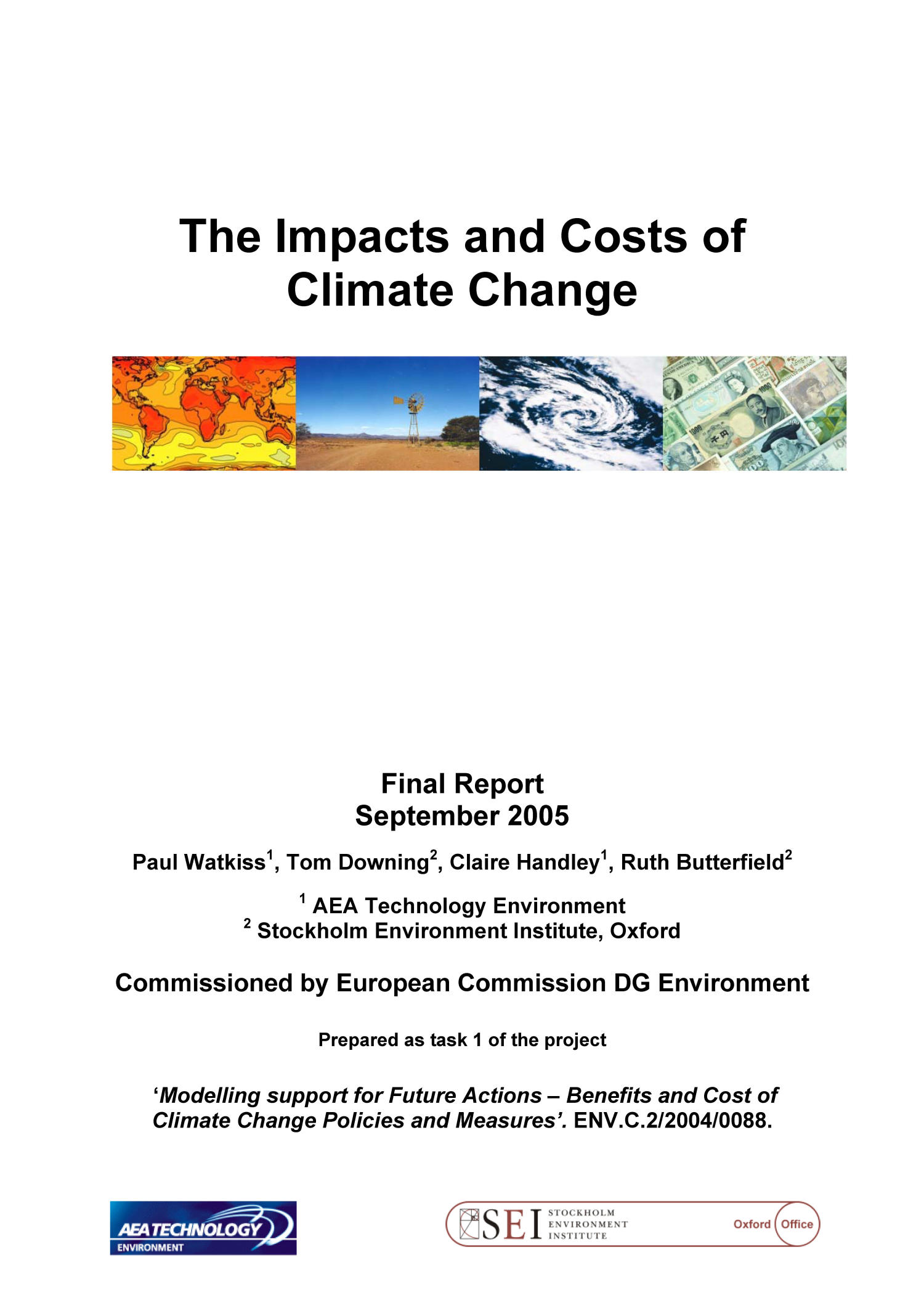 The Impacts and Costs of Climate Change                                                                                                      Front Cover