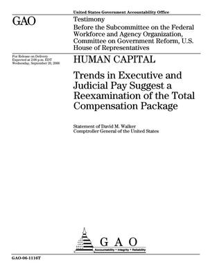 Primary view of object titled 'Human Capital: Trends in Executive and Judicial Pay Suggest a Reexamination of the Total Compensation Package'.