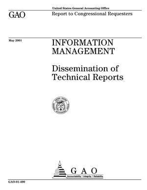 Primary view of object titled 'Information Management: Dissemination of Technical Reports'.