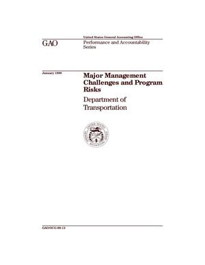 Primary view of object titled 'Major Management Challenges and Program Risks: Department of Transportation'.