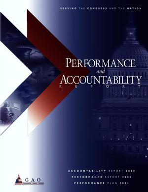 Primary view of object titled 'GAO Performance and Accountability Report, 2000'.
