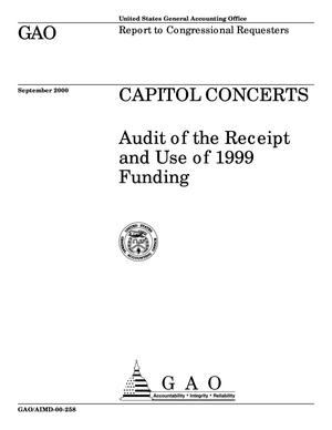 Primary view of object titled 'Capitol Concerts: Audit of the Receipt and Use of 1999 Funding'.