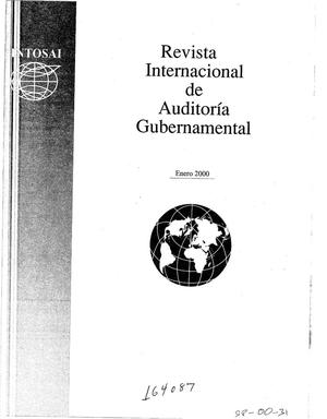 Primary view of object titled 'International Journal of Government Auditing, January 2000, Vol. 27, No. 1 (Spanish Version)'.