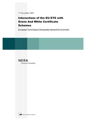 Primary view of object titled 'Interactions of the EU ETS with Green And White Certificate Schemes: European Commission Directorate-General Environment'.