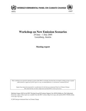 Primary view of object titled 'Workshop on New Emissions Scenarios Meeting Report'.