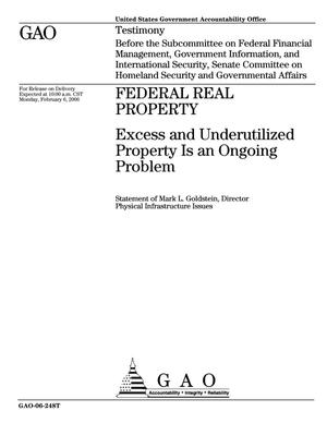 Primary view of object titled 'Federal Real Property: Excess and Underutilized Property Is an Ongoing Problem'.