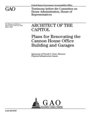 Primary view of object titled 'Architect of the Capitol: Plans for Renovating the Cannon House Office Building and Garages'.