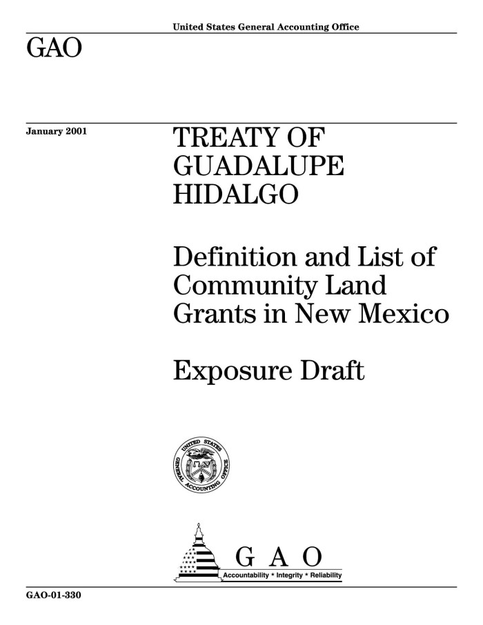 Primary View Of Object Titled U0027Treaty Of Guadalupe Hidalgo: Definition And  List Of Community