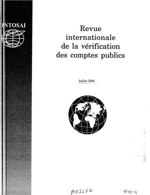 Primary view of object titled 'International Journal of Government Auditing, July 2000, Vol. 27, No. 3 (French Version)'.