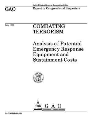 Primary view of object titled 'Combating Terrorism: Analysis of Potential Emergency Response Equipment and Sustainment Costs'.