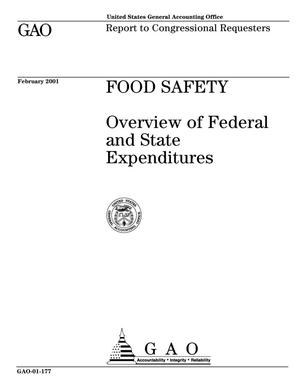 Primary view of object titled 'Food Safety: Overview of Federal and State Expenditures'.
