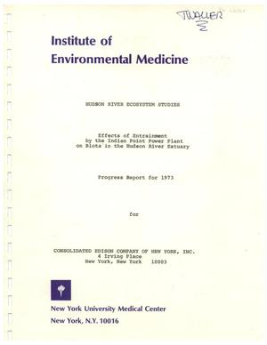 Effects of Entrainment by the Indian Point Power Plant on Biota in the Hudson River Estuary, 1973