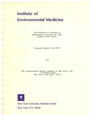 Primary view of object titled 'The Effects of Changes in Hydrostatic Pressure on Some Hudson River Biota: Progress Report for 1974'.